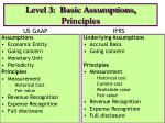level 3 basic assumptions principles