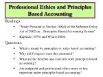 professional ethics and principles based accounting