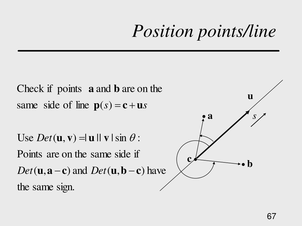 Position points/line