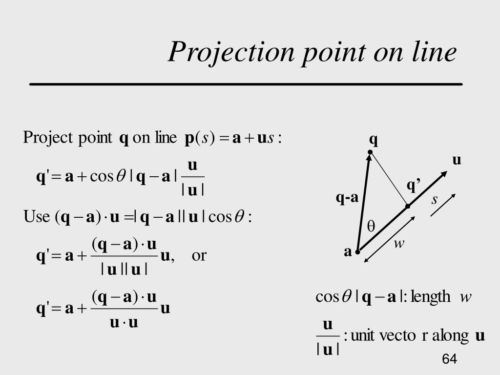 Projection point on line