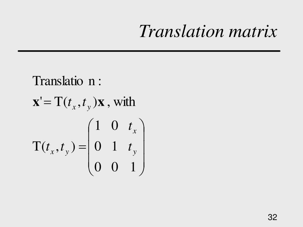 Translation matrix