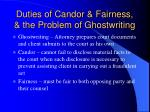 duties of candor fairness the problem of ghostwriting