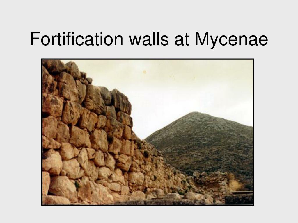 Fortification walls at Mycenae