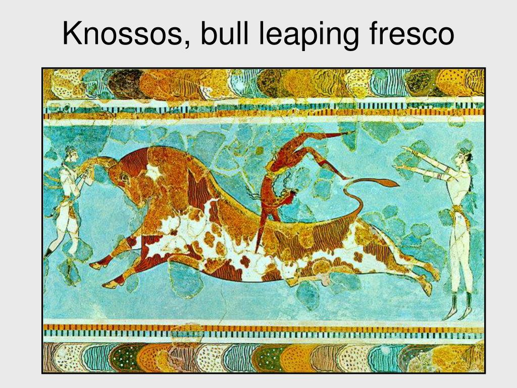 Knossos, bull leaping fresco