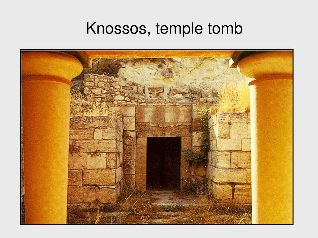 Knossos, temple tomb
