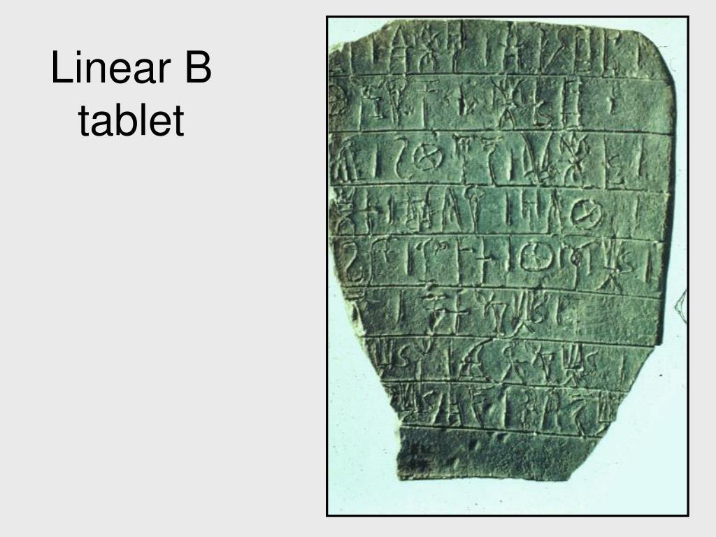 Linear B tablet