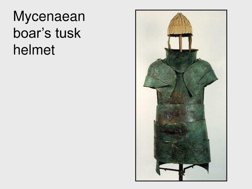 Mycenaean boar's tusk helmet