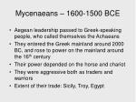 mycenaeans 1600 1500 bce