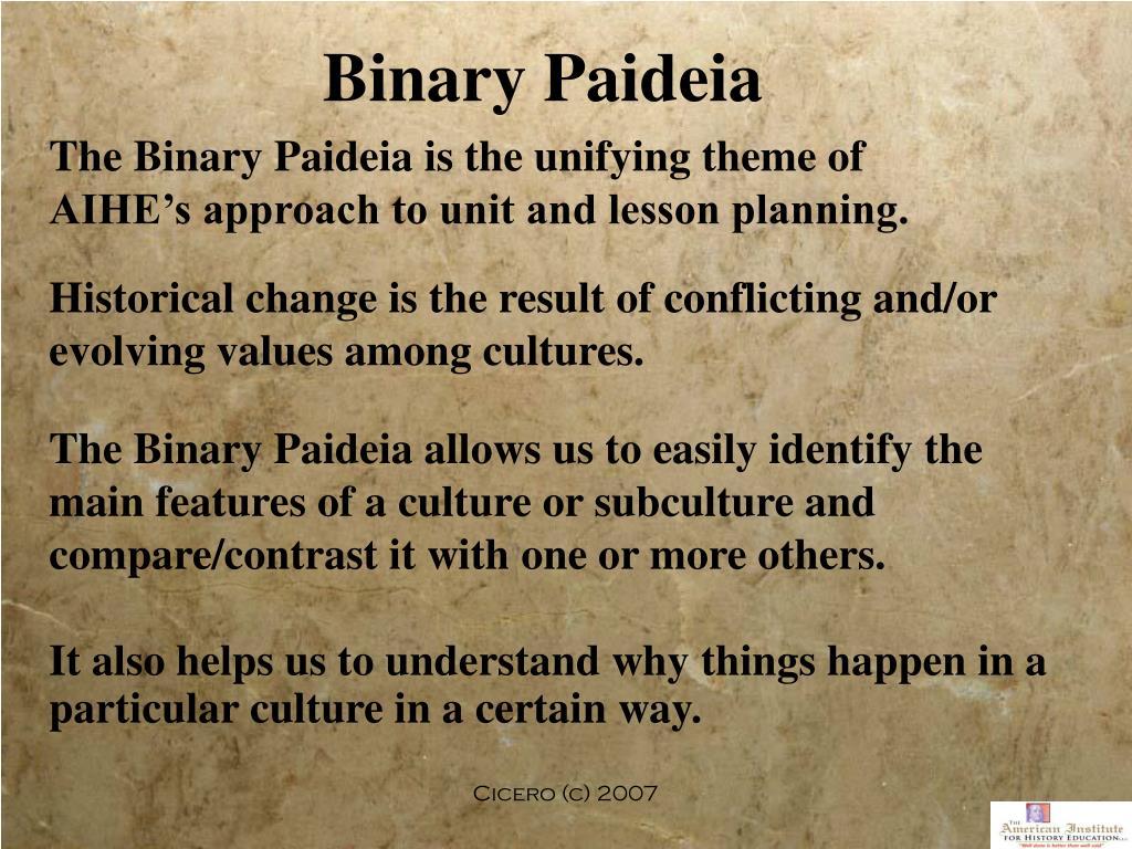 Binary Paideia