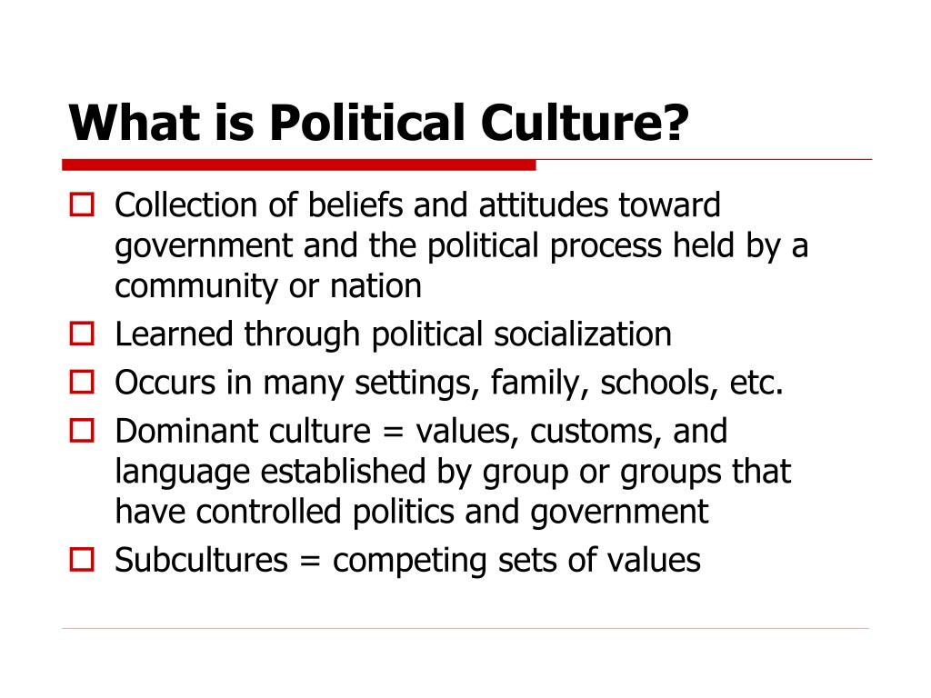 What is Political Culture?