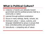 what is political culture