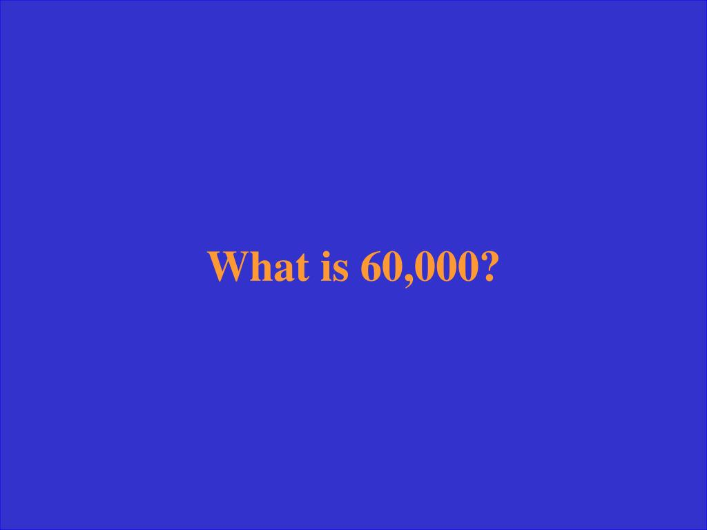 What is 60,000?