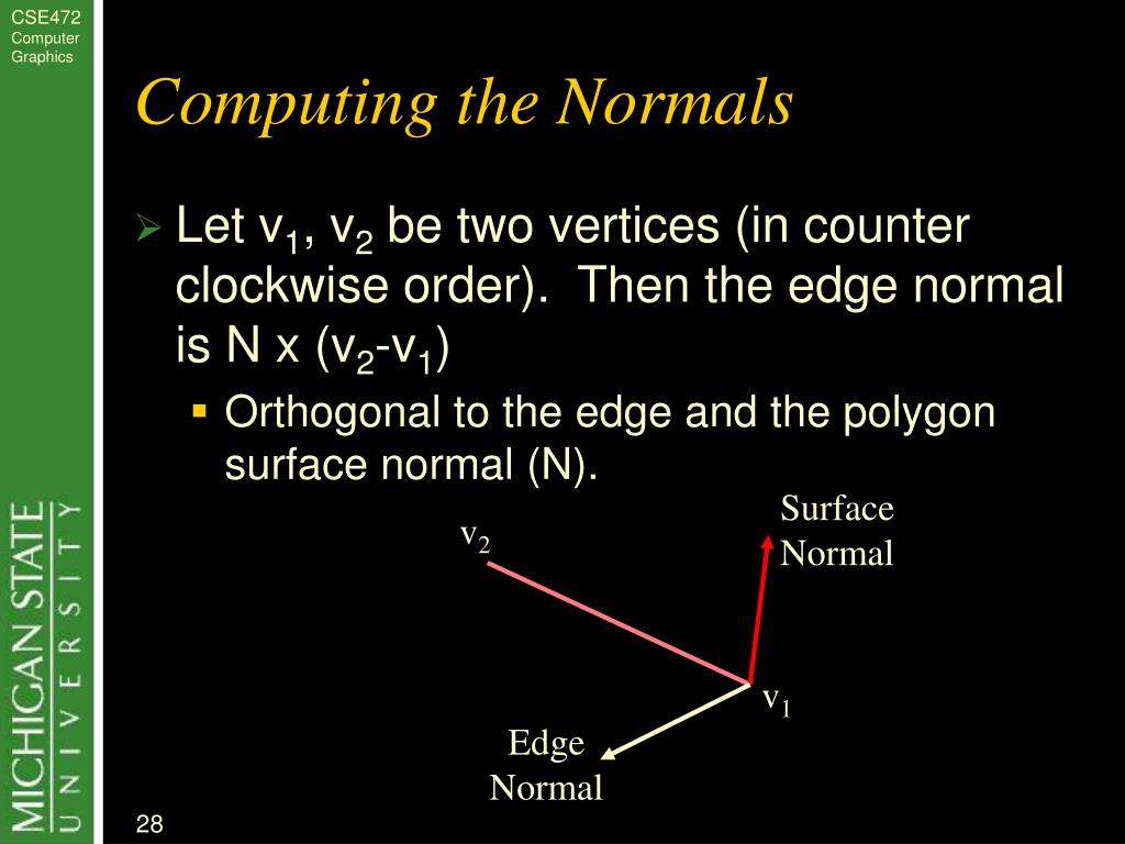 Computing the Normals