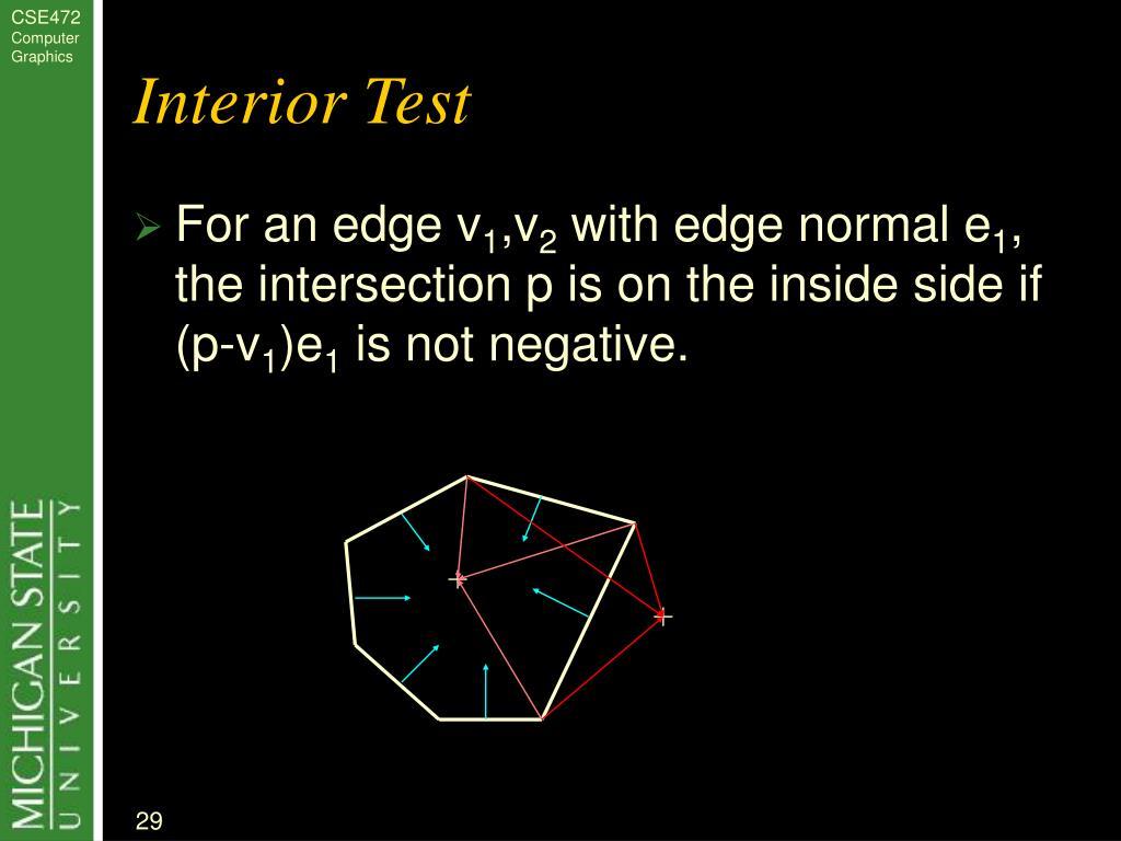 Interior Test