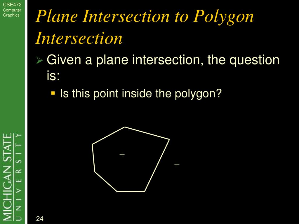 Plane Intersection to Polygon Intersection