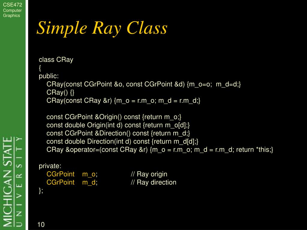 Simple Ray Class