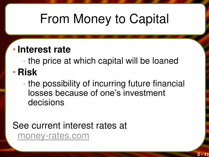 From Money to Capital