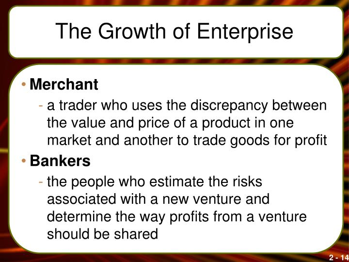 The Growth of Enterprise