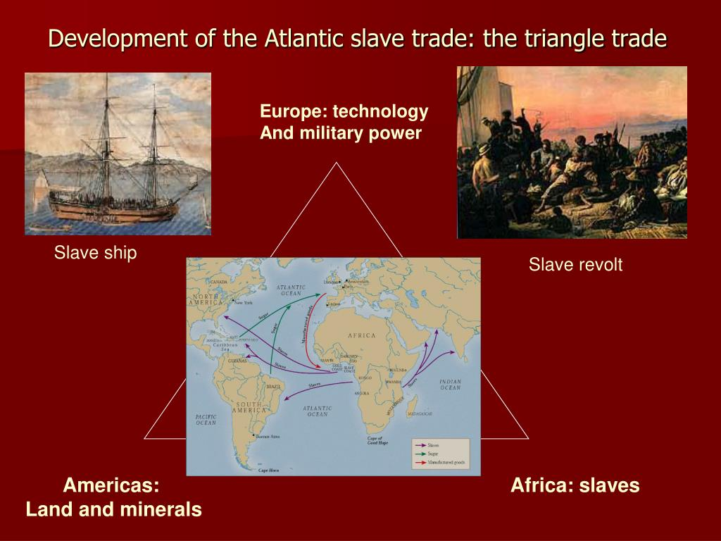 Development of the Atlantic slave trade: the triangle trade