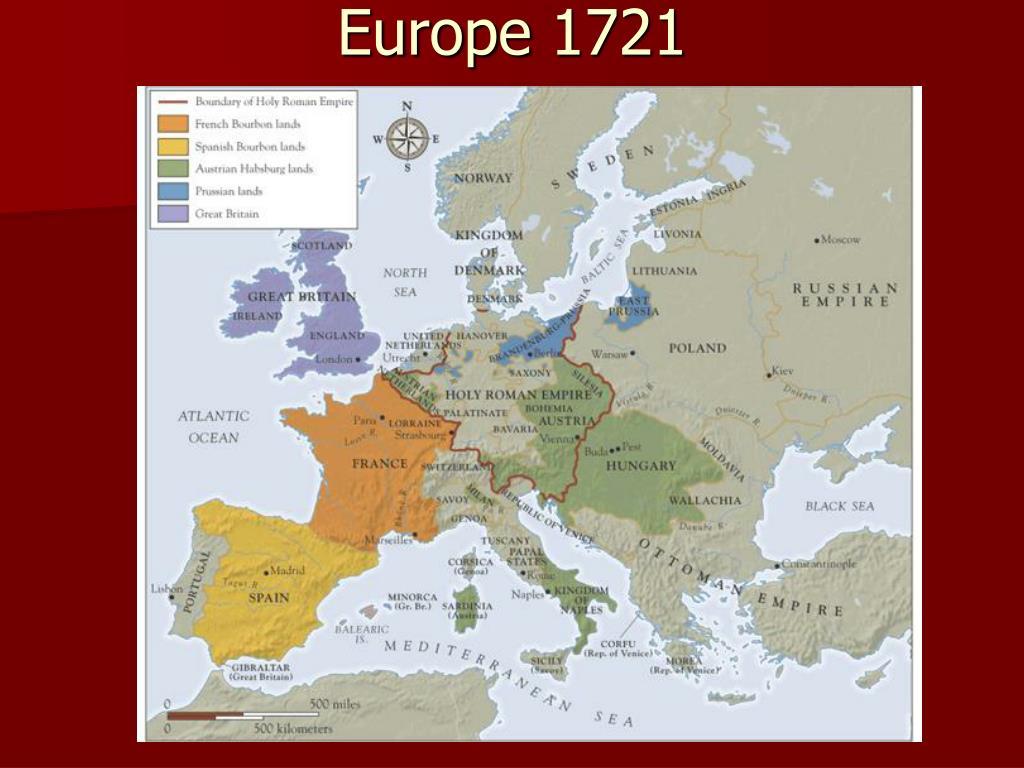 Europe 1721