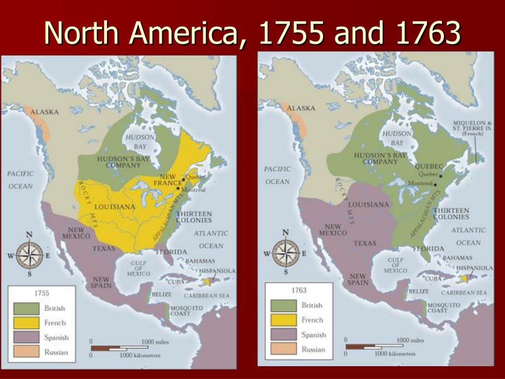 North America, 1755 and 1763