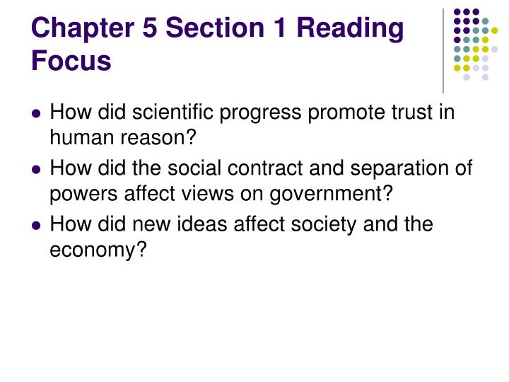 Chapter 5 Section 1 Reading Focus