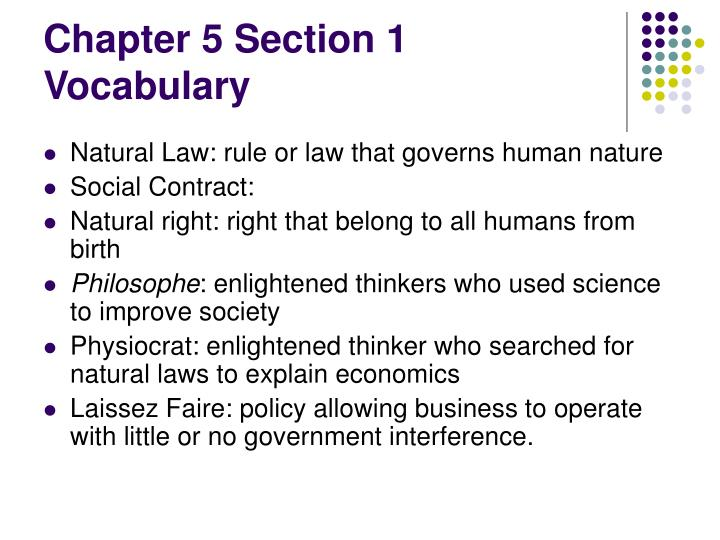 Chapter 5 Section 1 Vocabulary