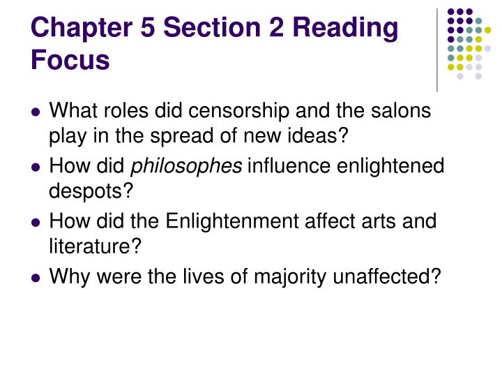 Chapter 5 Section 2 Reading Focus