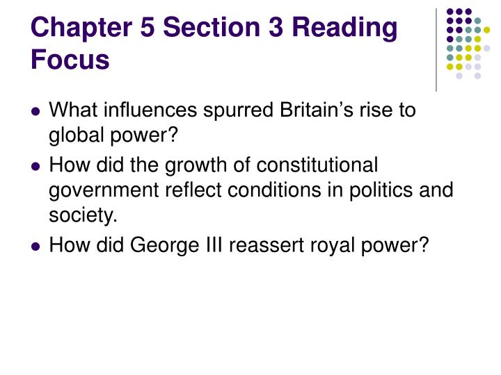 Chapter 5 Section 3 Reading Focus