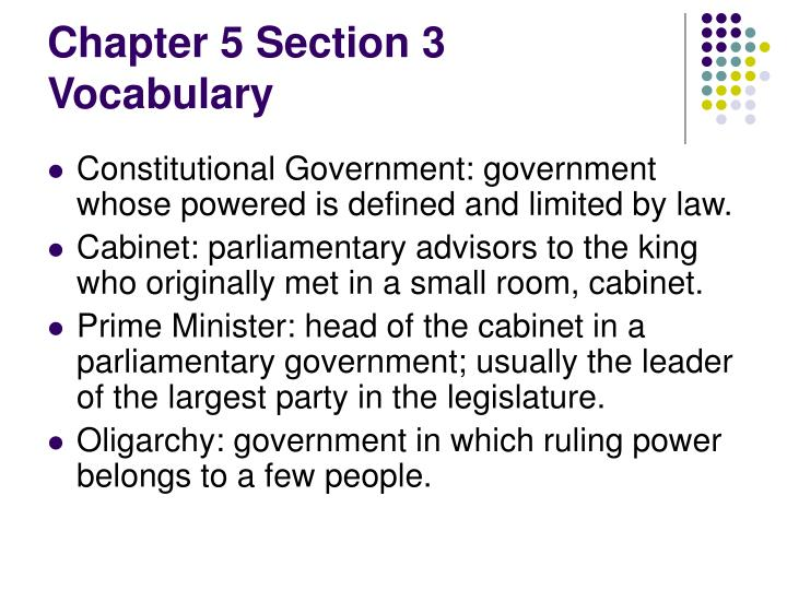 Chapter 5 Section 3 Vocabulary