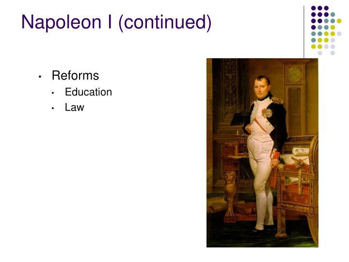 Napoleon I (continued)