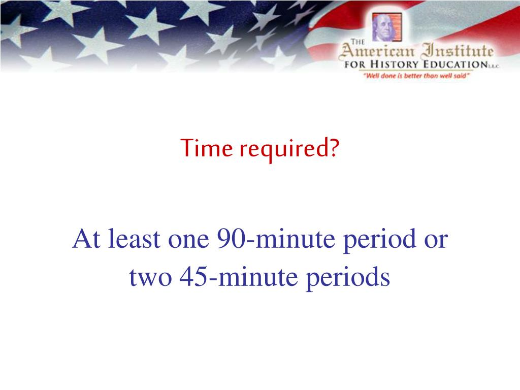 Time required?