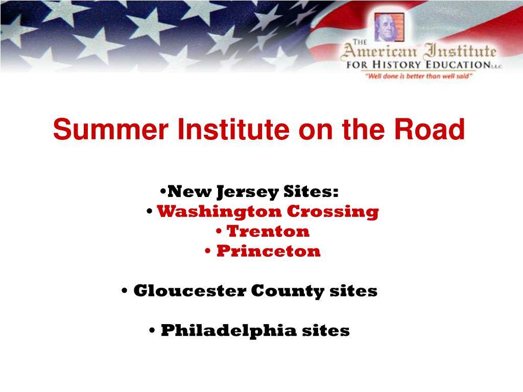 Summer Institute on the Road