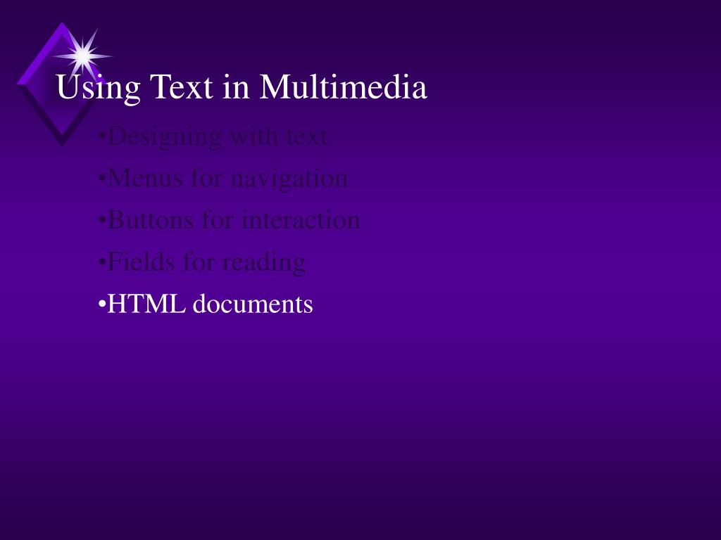 Using Text in Multimedia