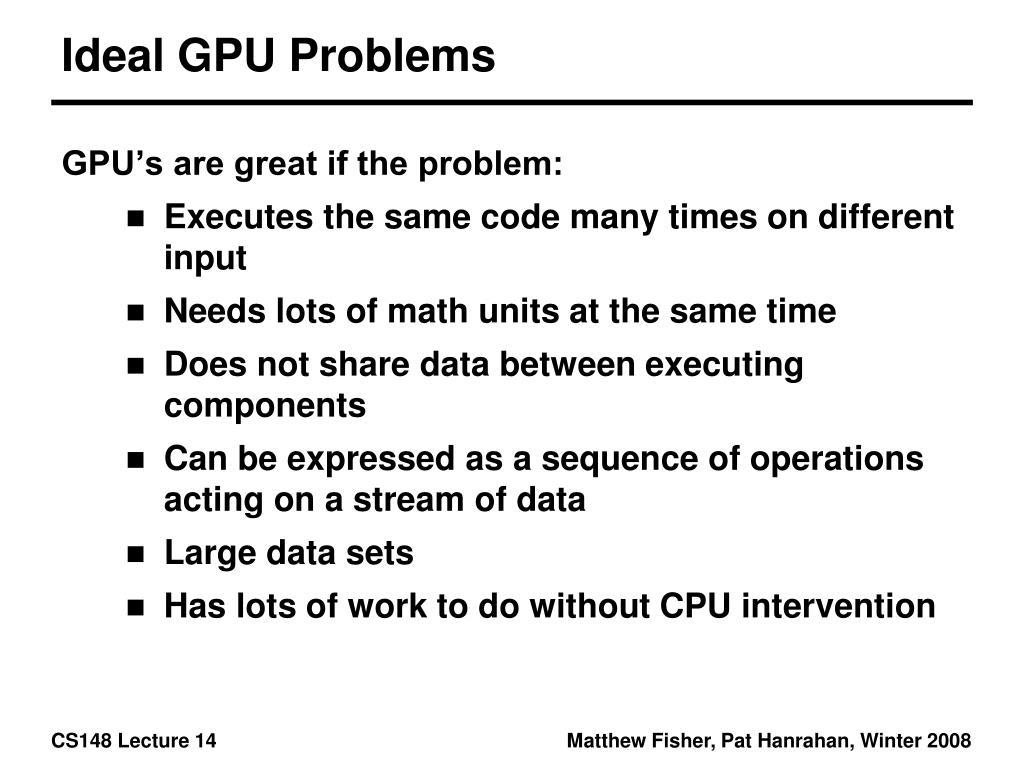 Ideal GPU Problems