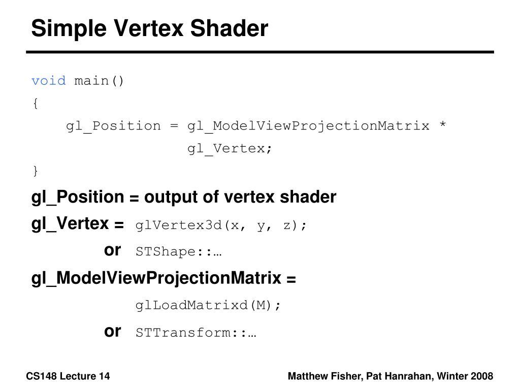 Simple Vertex Shader