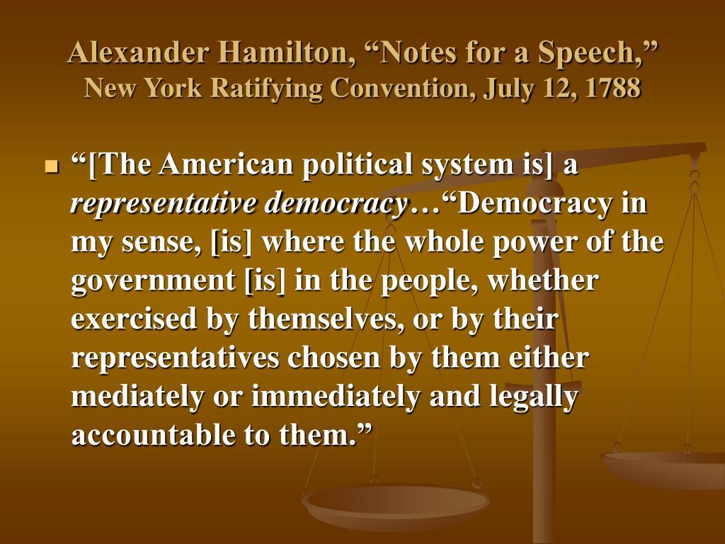 """Alexander Hamilton, """"Notes for a Speech,"""""""
