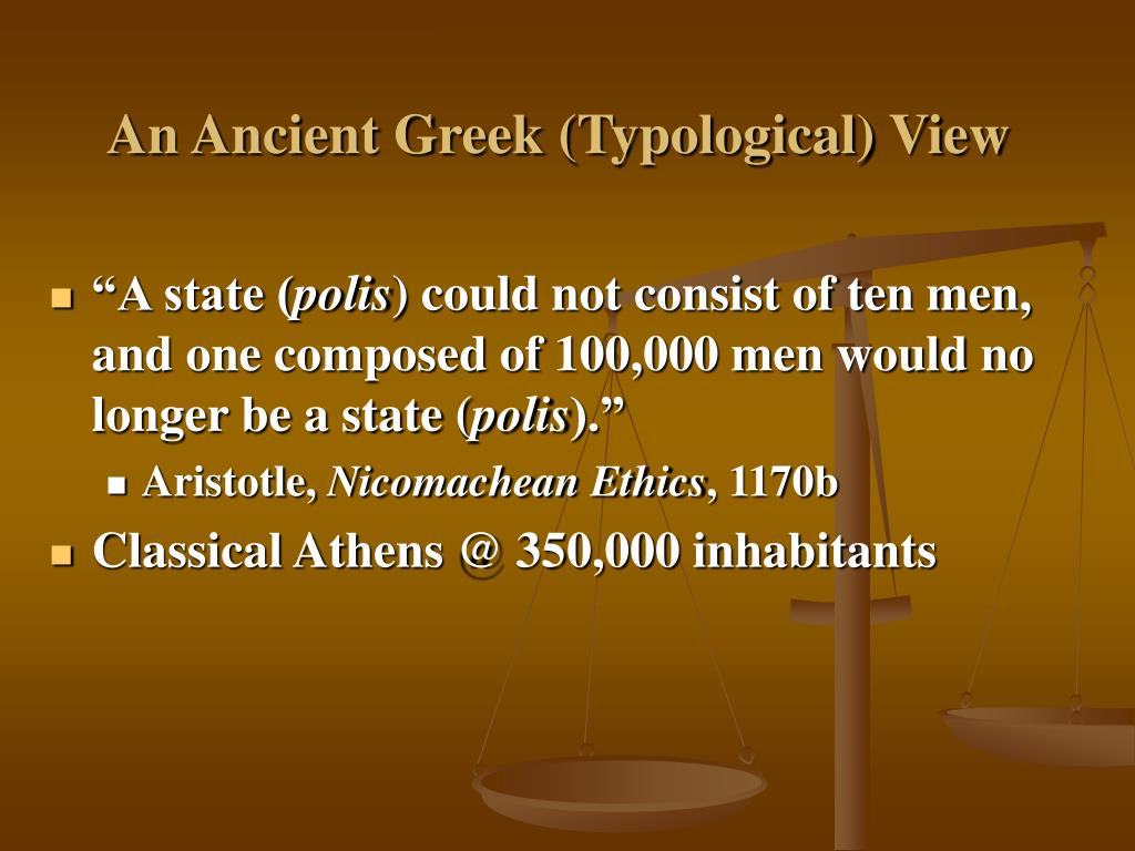 An Ancient Greek (Typological) View