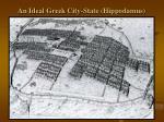 an ideal greek city state hippodamus