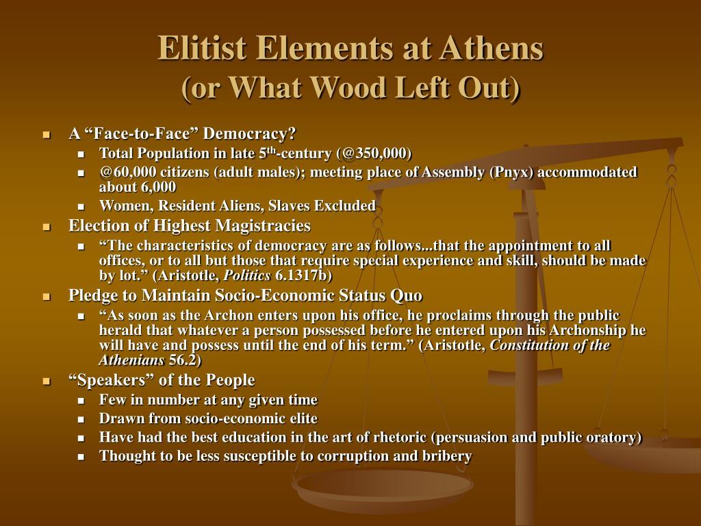 Elitist Elements at Athens