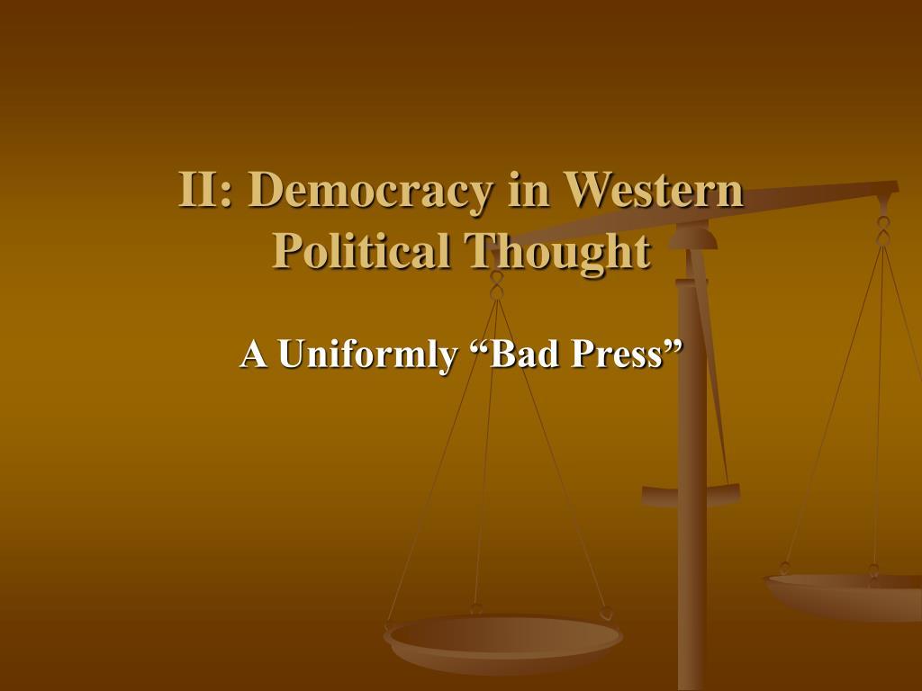 II: Democracy in Western