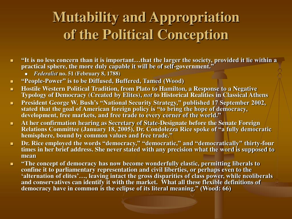 Mutability and Appropriation