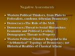 negative assessments