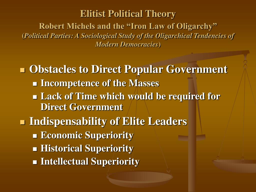 Elitist Political Theory