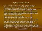 synopsis of wood