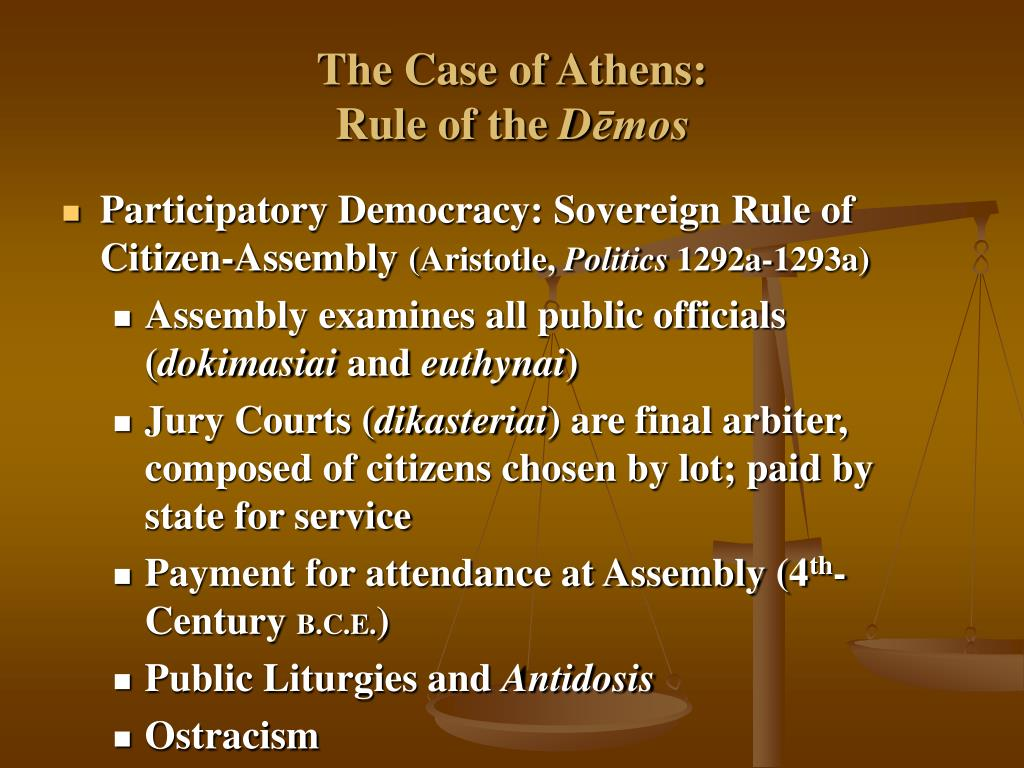 The Case of Athens: