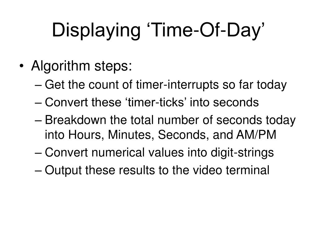 Displaying 'Time-Of-Day'