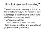 how to implement rounding