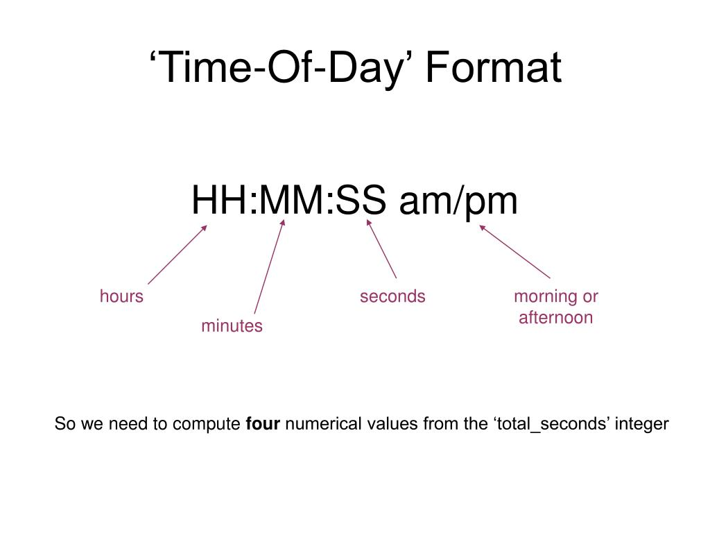 'Time-Of-Day' Format