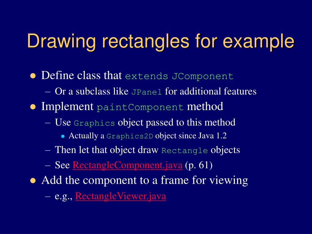 Drawing rectangles for example